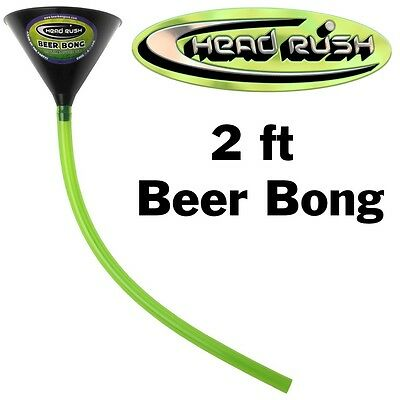 New Head Rush Beer Bong 48oz Funnel 2' Tube Party Free Shipping