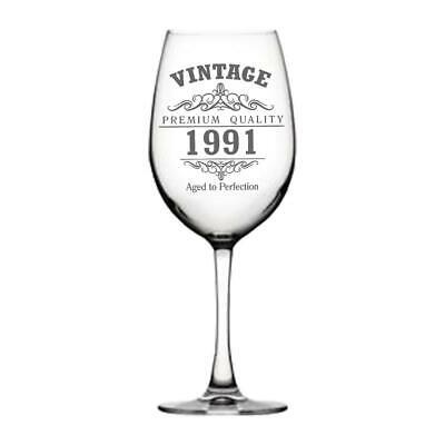 Vintage 1991 30th Cumpleaños Gigante Copa de Vino