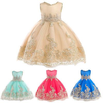 Elegant Embroidery Flower Girl Dress Formal Ball Gown Pageant Communion for Kids](Flower Girl Flower Ball)