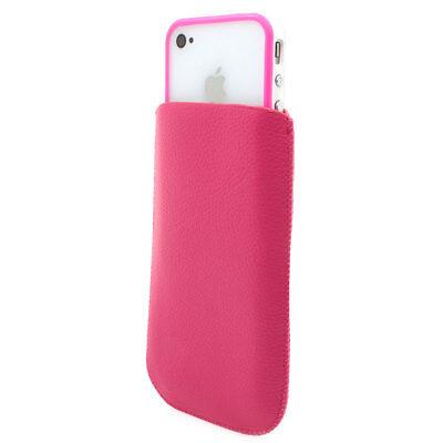 ★ iPhone 4 4S Schutz DUO Set TPU Hülle Tasche Bumper Design original weiss pink ()