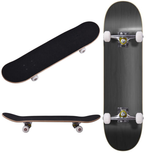 """ROBBI Blank Complete Skateboard Stained BLACK 7.75"""" Skateboards, Ready to ride"""