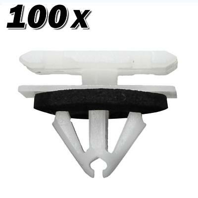 100pcs Nylon Fender Rocker Panel Moulding Liftgate Lamp Clip for Cruze Trax Volt