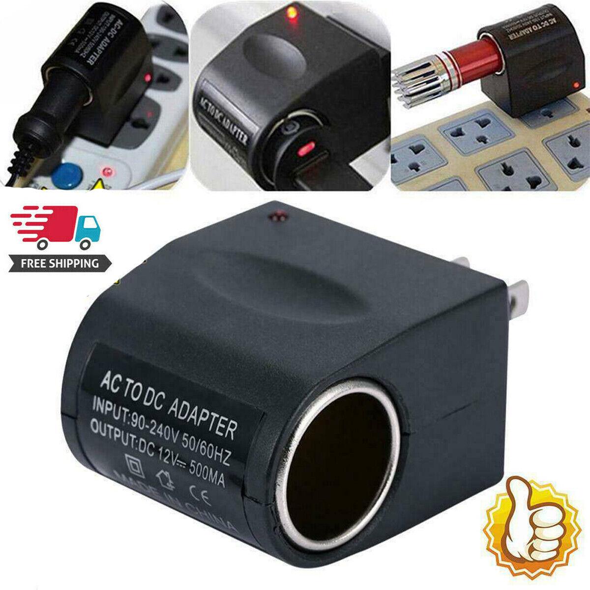 AC Wall Outlet To 12V DC Cigarette Lighter Car Socket Adapte