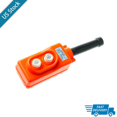 1pcs Pushbutton Switch Hoist Pendant Up-down Ac 250v380v 2.2kw Rain Proof