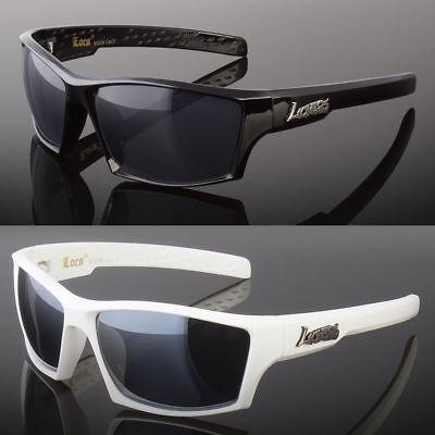 OG Locs Rectangular Men Sunglasses Original Gangsta Shades Black White Metal - Gangsta Sunglasses