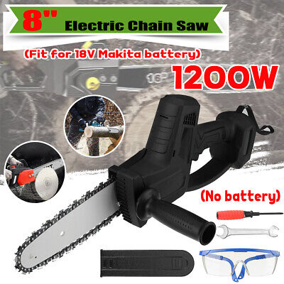 Cordless Electric Chain Saw Wood Cutter 1200W Mini One-Hand for Makita Battery