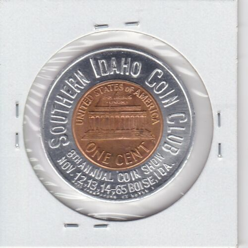 KAPPYSPENNY W2884 1964 SOUTHERN IDAHO COIN CLUB  ENCASED GOOD LUCK LUCKY  PENNY