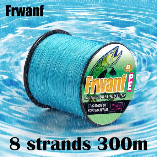 8 Strands Sea Fishing Line Moss Green 300M PE Dyneema Multifilament Braided Line