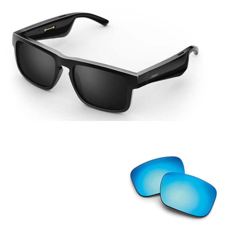 Bose Tenor Rectangular Bluetooth Audio Sunglass Frames with Replacement Lense