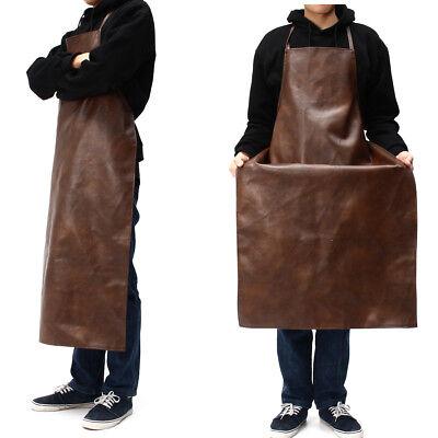 Apron Leather Equipment Apron Waterproof Washable Heat Insulation Kitchen Us