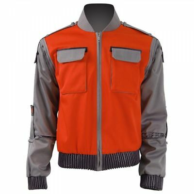 Back To Future Marty Mcfly Jacket Cosplay Costumes Adult - Marty Mcfly Cosplay