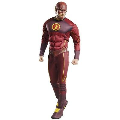 The Flash Costume Adult Superhero Suit Halloween Fancy Dress Outfit - Flash Superhero Costume