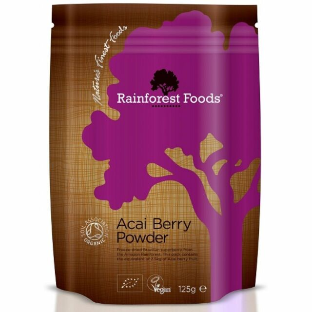 Rainforest Foods Organic Acai Berry Powder 125g