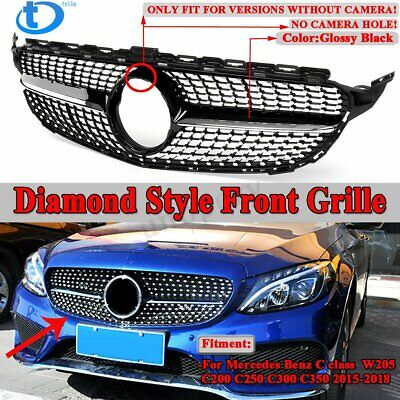 Diamond Front Grille Grill For Mercedes Benz W205 C-Class C250 C300 C43 15-18 US