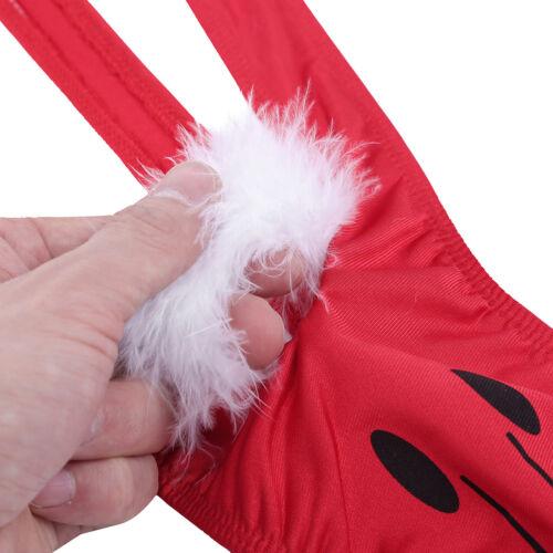 fc2ef2c6c Men Lingerie Velvet Santa Xmas Thongs Underwear Panties Christmas ...