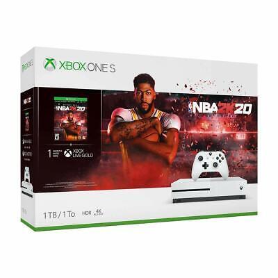 NEW Microsoft Xbox One S 1TB Console- NBA 2K20 Bundle