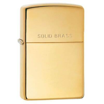Zippo Windproof Lighter Solid Brass Engraved (254)