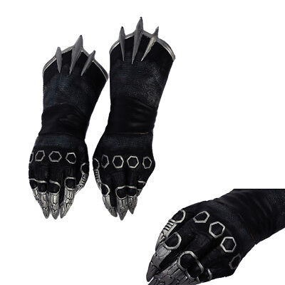 Black Panther Claw Cosplay Gloves Captain America 3 Civil War Costume Prop Adult](Panther Gloves)