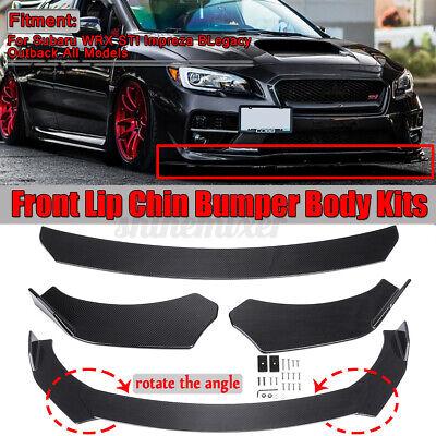 Carbon Fiber Look Front Bumper Lip Spoiler For Subaru WRX STI Impreza Legacy