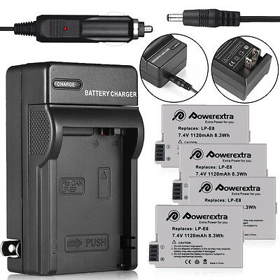 LP-E8 Battery Pack + Charger for Canon Rebel T2i T3i T4i T5i Kiss X5 EOS 550D 21