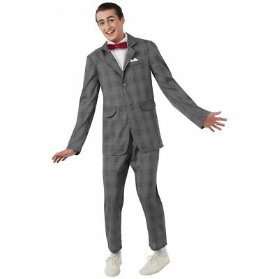 Pee-Wee Herman's Playhouse PeeWee Suit Licensed Men's Adult Costume STD Size](Peewee Herman Costume)