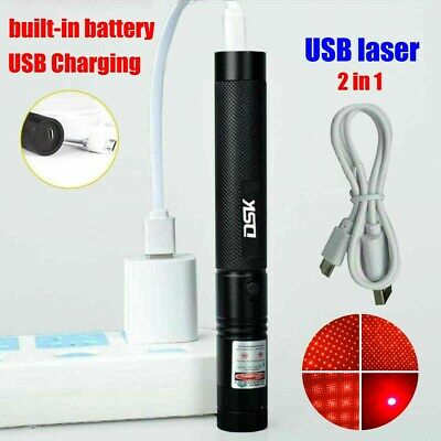 990miles Strong Beam Red Laser Pointer Pen 650nm Lazer Torch Usb Rechargeable
