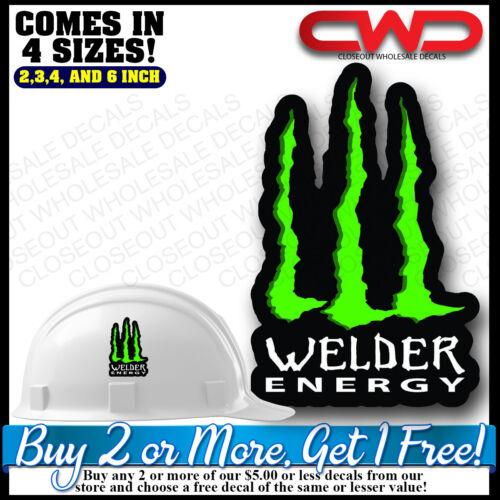 Monster Welder Hard hat Decal Sticker  Cup Cooler Toolbox Vehicle 100008