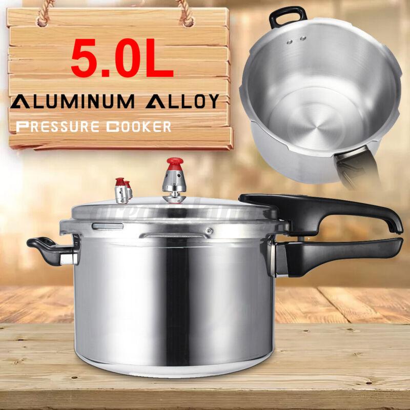 5.3Quart Aluminum Pressure Cooker Kitchen Fast Cooker Canner Pot Cookware