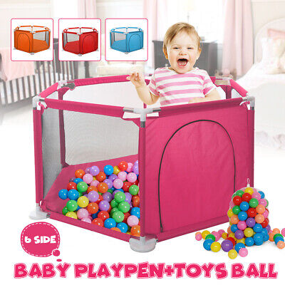 Baby Playpen Kids 6 Panel Safety Play Center Yard Home Indoor Outdoor Pen New