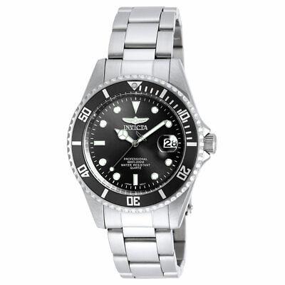 Invicta Men's Watch Pro Diver Quartz Black Dial Dive Quartz Bracelet 8932OB