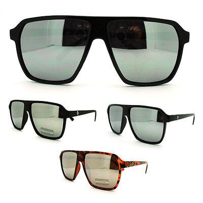 Mirror Lens Mens Futuristic All Black Thin Plastic Racer Aviator (All Plastic Sunglasses)