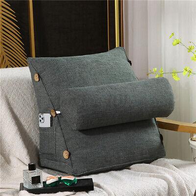 Ergonomisches Rückenkissen mit Nackenrolle Keilkissen 60x50cm Für Sofa Bett