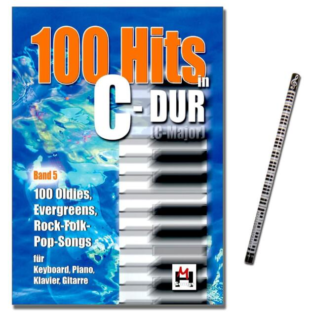 100 Hits in C-Dur Band 5 - Songbook mit MusikBleistift - BOE6275 - 9783865437105