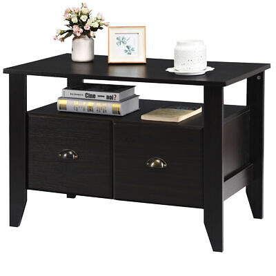 Multi-function Lateral File Cabinet Coffee Table Tv Stand Retro Furni W2 Drawer