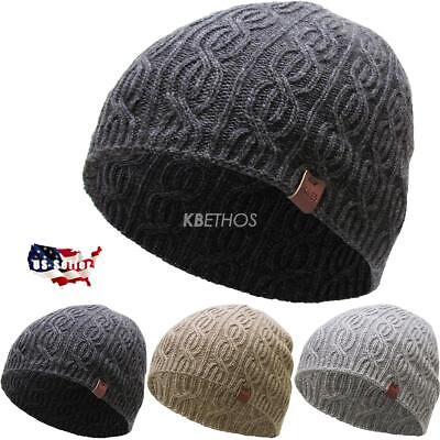 Winter Clearance Sale (CLEARANCE SALE!! Short Soft Cable Knit Beanie Winter Ski Hat Skull)