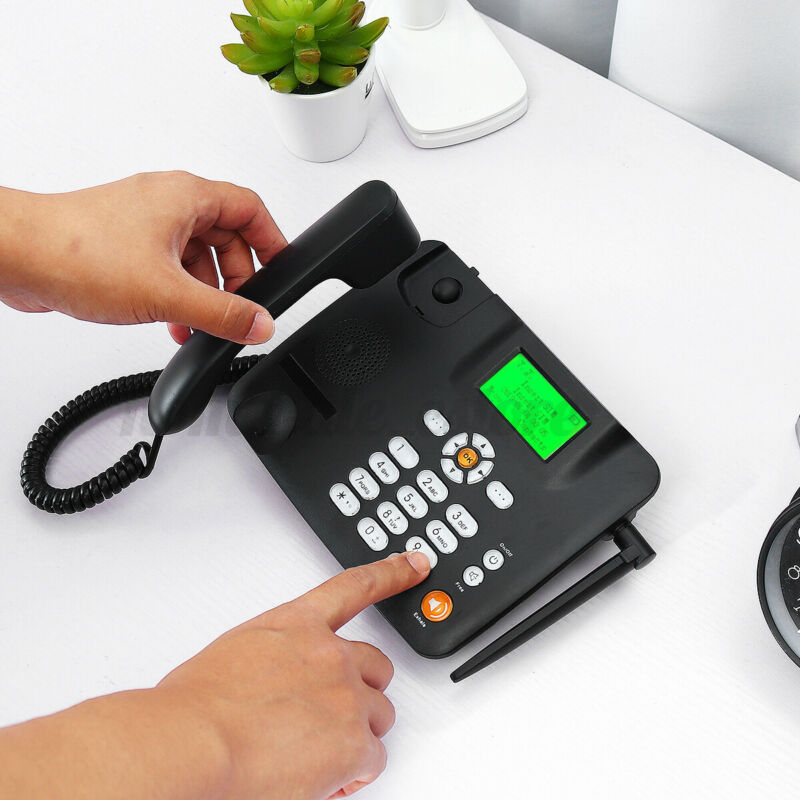 Wireless Desk Phone Landline Terminal GSM SIM Card Mobile Desktop Telephone