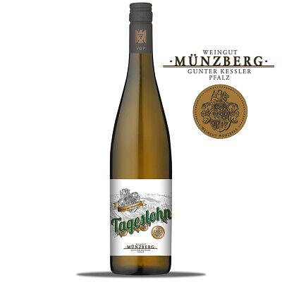 2018 Tageslohn Riesling QbA trocken Münzberg Weißwein Pfalz
