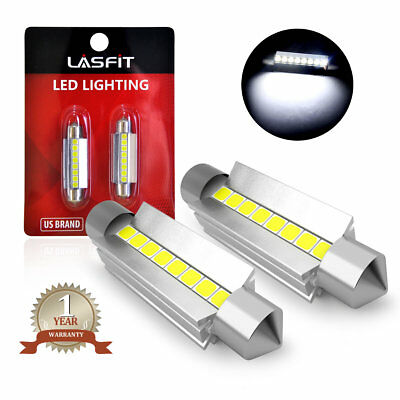 LASFIT White Festoon 44mm LED Light Bulb 561 562 567 Dome Map Door Light 211-2