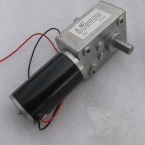 Large torque worm geared motor dual shaft output dc motor for Bent creek motors inventory