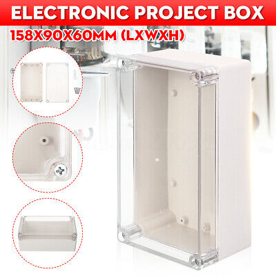 158x90x60mm Waterproof Clear Diy Electronic Project Box Enclosure Project Case