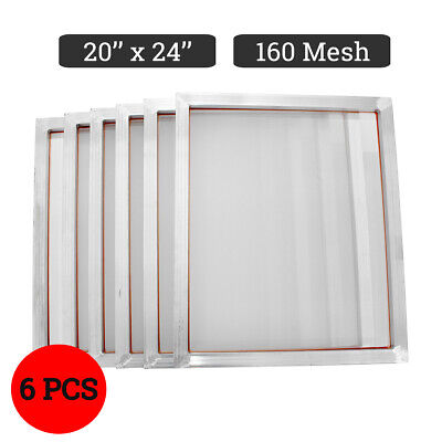 6 Pack 20 X 24 Aluminum Silk Screen Printing Press Frame Screens 160 Mesh