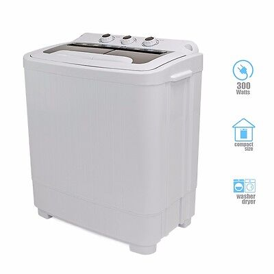 غسالة ملابس جديد Portable Mini Washer Compact 8-9 lbs Washing Spin Dryer Machine Dorm RV Laundry