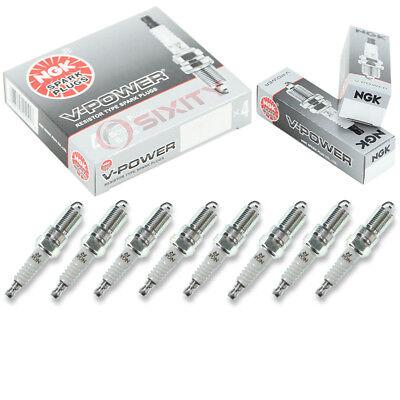 Ford 4.6 Spark Plugs (8 pcs NGK V-Power Spark Plugs for 1993-2010 Ford F-150 4.6L 5.8L 5.4L V8 - oc )