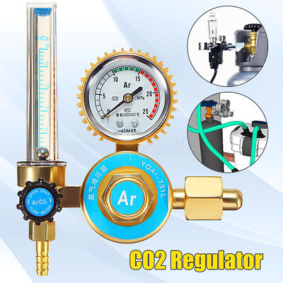 Argon Co2 Gas Mig Tig Welding Flow Meter Regulator Pressure Control Gauge 25mpa