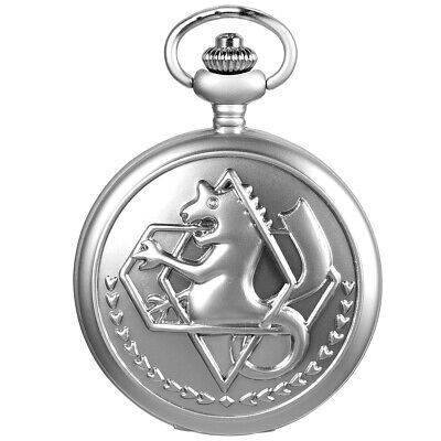SIBOSUN Fullmetal Alchemist Pocket Watch with Chain Box for Cosplay Accessories