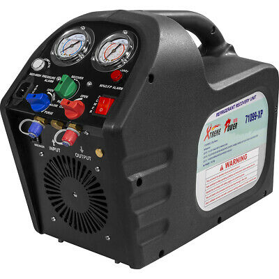 Portable Refrigerant Recovery Machine Charging Unit Hvac Liquid 12hp Kit 110v