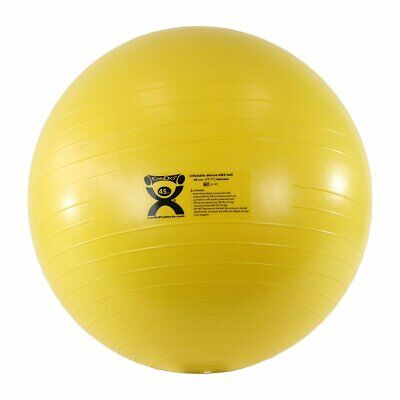 """CanDo Deluxe ABS Inflatable Exercise Ball, Yellow, 17.7"""""""