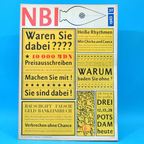 NBI 32/1965 DDR FKK Bundestag Chile Potsdam Afghanistan Berliner Ensemble P