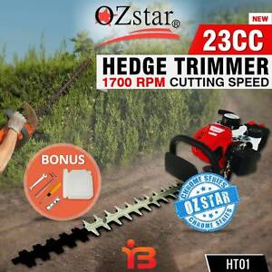 New Oz Star 23cc Commercial Petrol Hedge Trimmer Brush Cutter Fairfield Fairfield Area Preview
