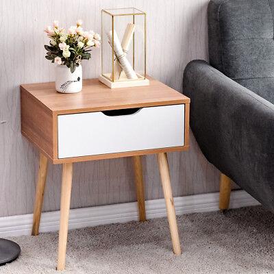 Living Room Nightstand (Nightstand End Side Sofa Table Storage Drawer Living Room Furni W/Solid Wood)